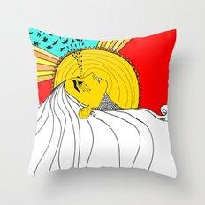 sad mornings Throw Pillow
