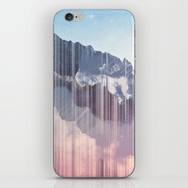 Glitched Mountains iPhone Skin