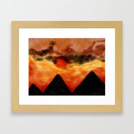 Sun of Pyramids Framed Art Print