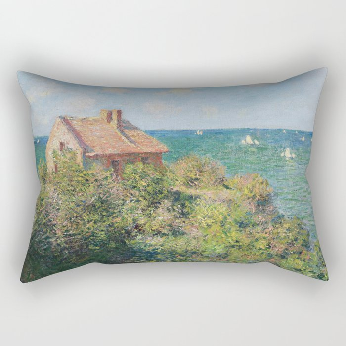 Fisherman's Cottage at Varengeville by Claude Monet Rectangular Pillow
