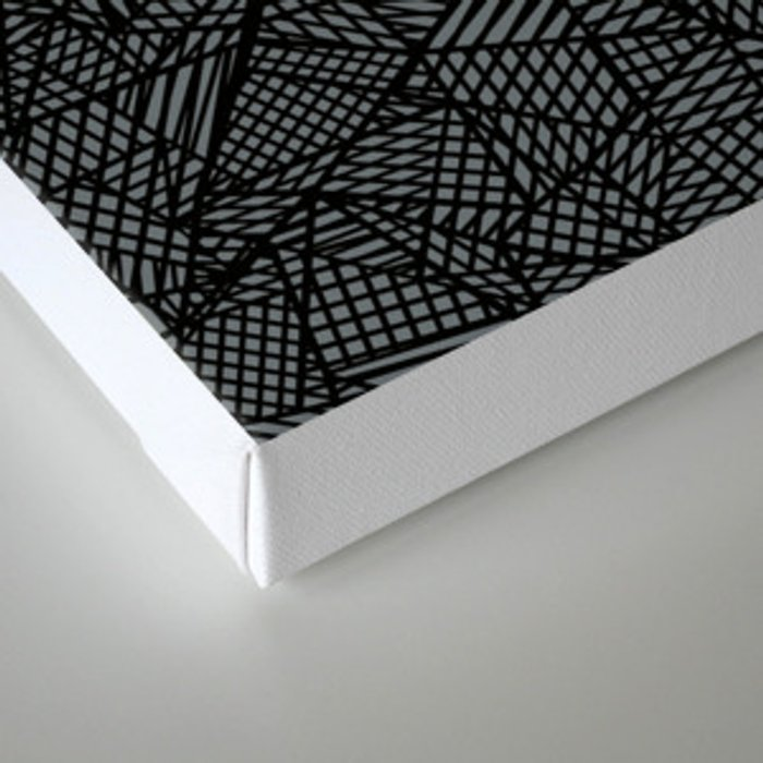 Ab Lace Black and Grey Canvas Print