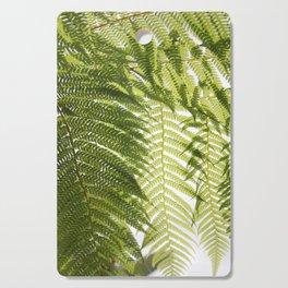 House Plant Fern Leaf Silhouette Sunlight Zen Photo Cutting Board