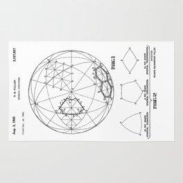 Buckminster Fuller 1961 Geodesic Structures Patent Rug