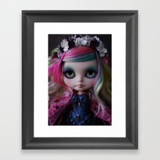 Sweet Death Shinigami (Ooak BLYTHE Doll) Framed Art Print