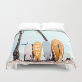 Choose Your Surfboard Duvet Cover