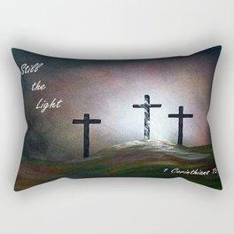 Still the Light Scripture Painting Rectangular Pillow