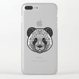 Zen Panda Clear iPhone Case
