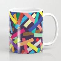 confetti Mugs featuring Confetti by Joe Van Wetering
