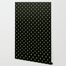 Avocado Hearts (black background) Wallpaper