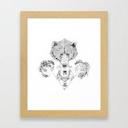Inside us I Framed Art Print