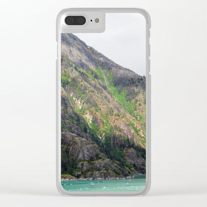 Sunlit Mountain Clear iPhone Case
