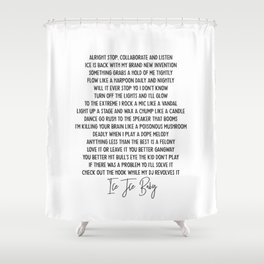ICE ICE BABY ICONIC HIP HOP Shower Curtain