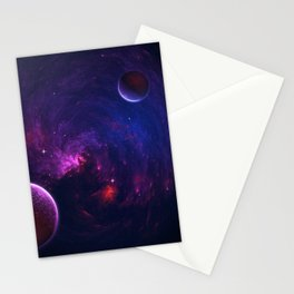 Abstract Fractal Design 11 - Space and Dark Matter Absorption Stationery Cards