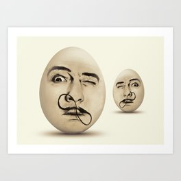 DALI #EGGS Art Print