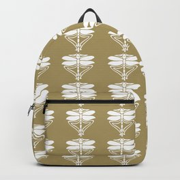 Teak Arts and Crafts Dragonflies Backpack