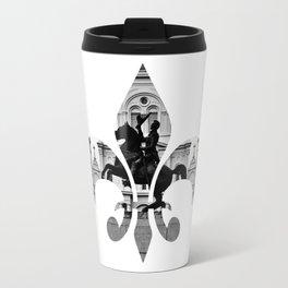 Jackson Squared - fleur de lis Travel Mug