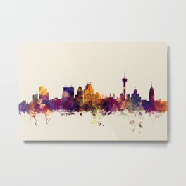 San Antonio Texas Skyline Metal Print