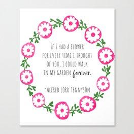 Walk In Your Garden Forever Canvas Print