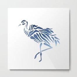 Blue Crane Metal Print