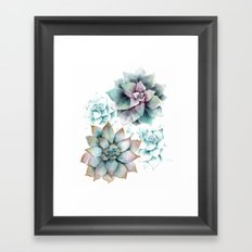 Succulents light Framed Art Print