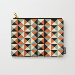 Mid-century pattern 138 (orange triangles) Carry-All Pouch
