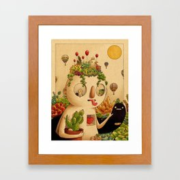 Succulent Man Framed Art Print