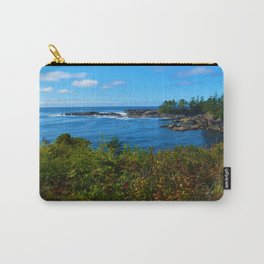 The Pacific Ocean as seen from the Wild Pacific Trail on Ucluelet, BC Carry-All Pouch