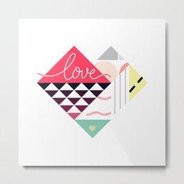 Tangram Heart Metal Print