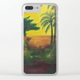 Day in the wetlands Clear iPhone Case