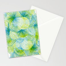 Space lime Stationery Cards