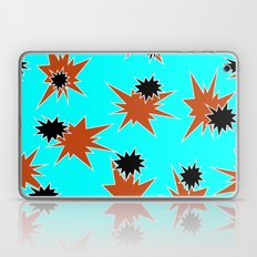 Stars (Orange & Black on Blue) Laptop & iPad Skin