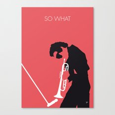No082 MY Miles Minimal Music poster Canvas Print