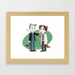 o w o Framed Art Print