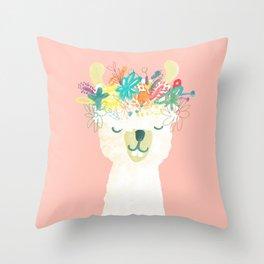 Llama Goddess Throw Pillow