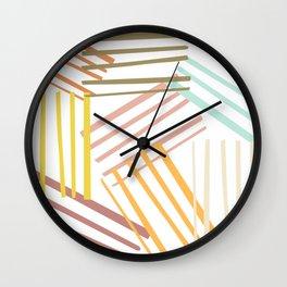 Abstract Pastel Line Art Wall Clock