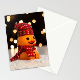 Picture New year Scarf Mandarine Winter hat Snowme Stationery Cards