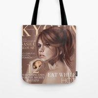 snk Tote Bags featuring SnK Magazine: Sasha by emametlo