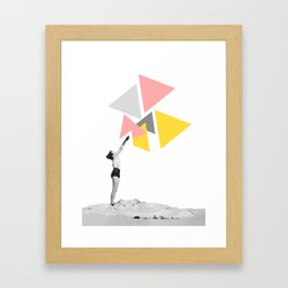 """Aiming Higher"" Woman Collage Art based on Vintage Photos Framed Art Print"