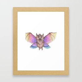 Marvelous Things - Bat with Butterfly Wings Framed Art Print