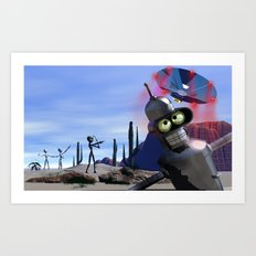 lost in middle of desert, looking for a f**ken Taxi Art Print