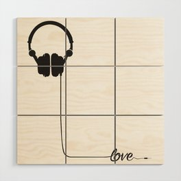 For the love of music 2.0 Wood Wall Art