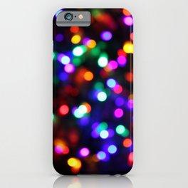 Vibrant Christmas Bokeh iPhone Case
