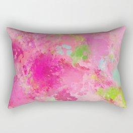 Pink neon green abstract look Rectangular Pillow