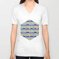 code V-neck T-shirts featuring Coatl Code by Pamku