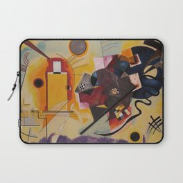 Wassily Study Repro yellow red blue 1925  Laptop Sleeve