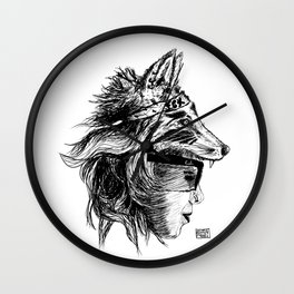 Black Fox Militia Wall Clock