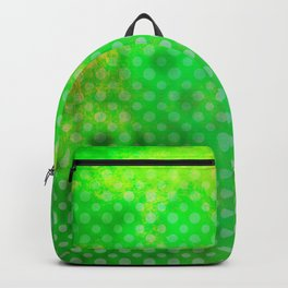 Texture in Green Flash with Polka Dots Backpack