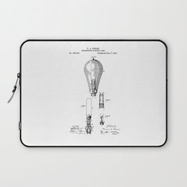 patent art Edison 1892 Incandescent electric lamp Laptop Sleeve