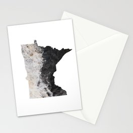 Minnesota Map Outline-North Shore Texture Stationery Cards