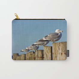 Seagulls on groynes Carry-All Pouch